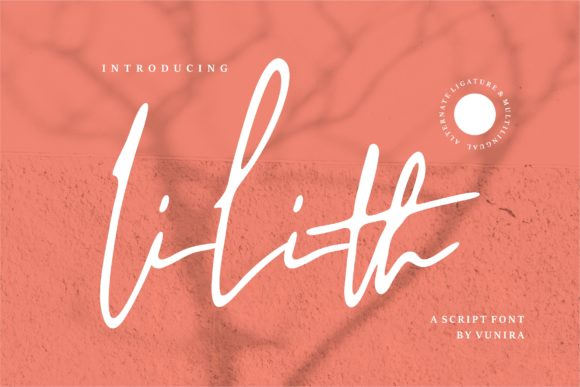Print on Demand: Lilith Script & Handwritten Font By Vunira