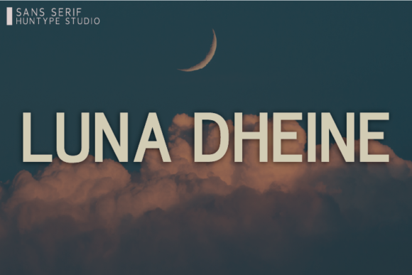 Print on Demand: Luna Dheine Sans Serif Font By Huntype