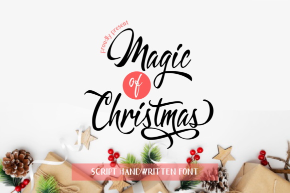 Print on Demand: Magic of Christmas Script & Handwritten Font By Nico Muslib
