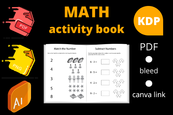 Print on Demand: Math Activity Book for Kids Kindergarten Gráfico Páginas KDP Por Dunkyshot