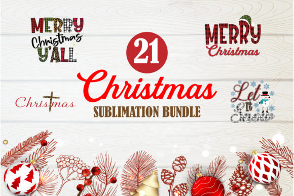 Print on Demand: Merry Christmas Bundle Sublimation 3 Graphic Crafts By TripleBcraft