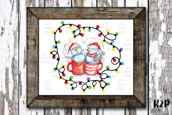 Print on Demand: Merry Christmas Sublimation Snowman Graphic Illustrations By KtwoP
