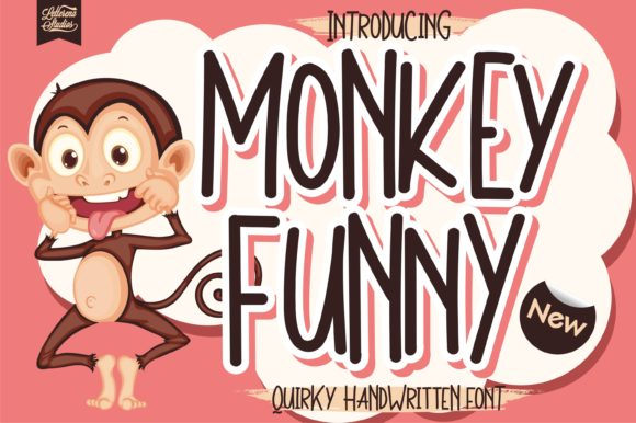 Print on Demand: Monkey Funny Script & Handwritten Font By letterenastudios