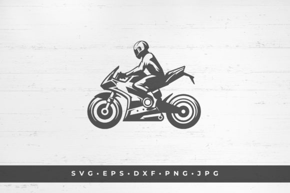 Motorcycle Racer Illustration Isolated Gráfico Ilustraciones Por vasyako1984