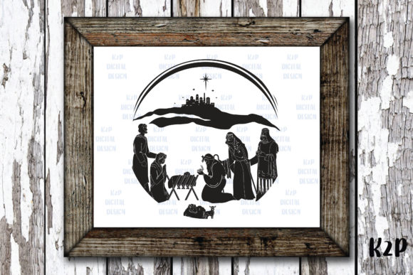 Print on Demand: Nativity, Christmas Scene Graphic Crafts By KtwoP