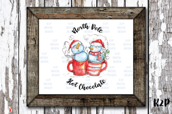 Print on Demand: North Pole Hot Chocolate Sublimation Graphic Illustrations By KtwoP