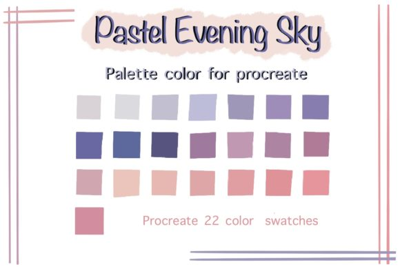 Pastel Evening Sky Color Palettes Graphic Add-ons By Aloe_wannaart