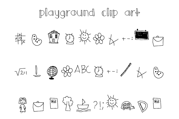 Print on Demand: Playground Clip Art Dingbats Font By Yafont