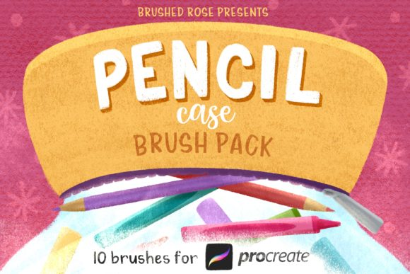 Procreate Brush Pack | Colored Pencil, C Graphic Brushes By Brushed Rose