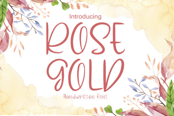Print on Demand: Rose Gold Script & Handwritten Font By boogaletter