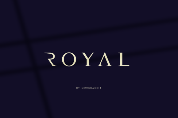 Print on Demand: Royal Serif Font By moonbandit