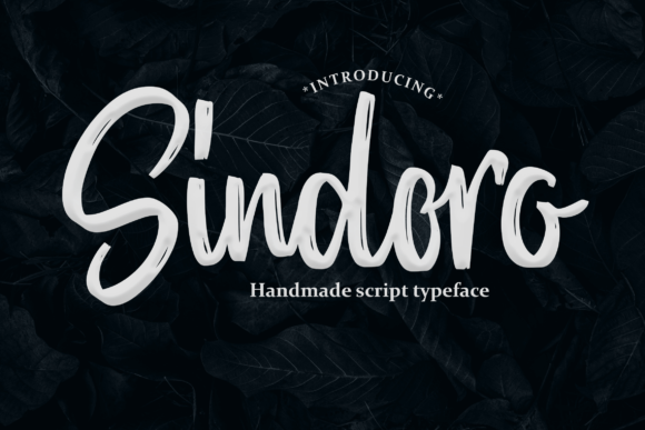 Print on Demand: Sindoro Script & Handwritten Font By Colative