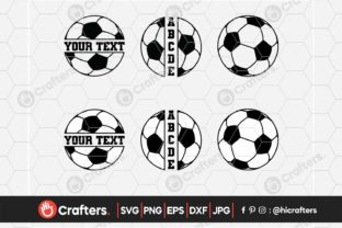 Soccer Ball, Split Soccer Ball with Name Graphic Crafts By HiCrafters