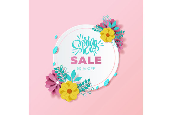 Spring Background Beautiful Colorful Graphic Illustrations By Aghiez