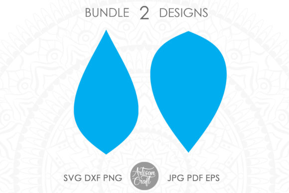 Print on Demand: Teardrop Earrings Graphic 3D SVG By Artisan Craft SVG