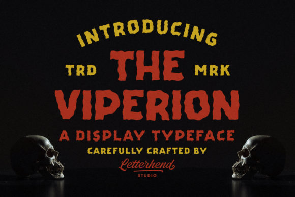 Print on Demand: The Viperion Display Font By letterhend