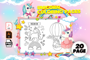 Print on Demand: Unicorn Coloring Pages - KDP Interior Graphic Coloring Pages & Books Kids By MK DESIGN
