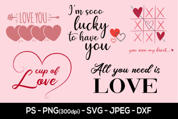 Print on Demand: Valentine Svg, Heart and Love Sublimation Graphic Crafts By AdMaioraDesign