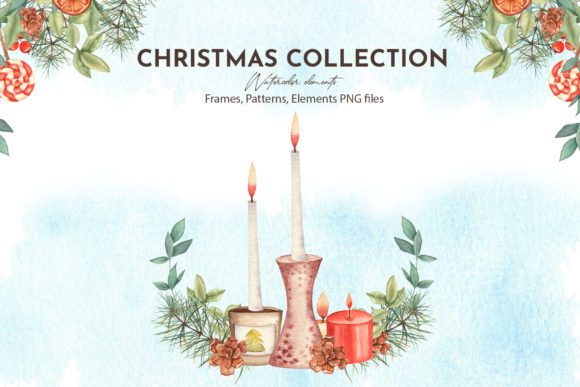 Watercolor Christmas Collection Graphic Download