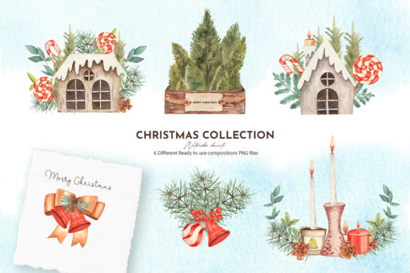 Watercolor Christmas Collection Graphic Item