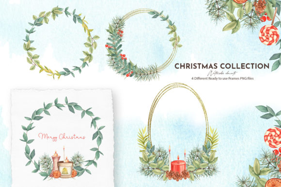 Watercolor Christmas Collection Graphic Design