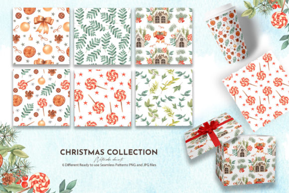 Watercolor Christmas Collection Graphic Preview