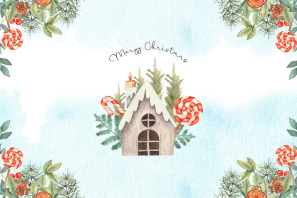 Watercolor Christmas Collection Graphic Design Item
