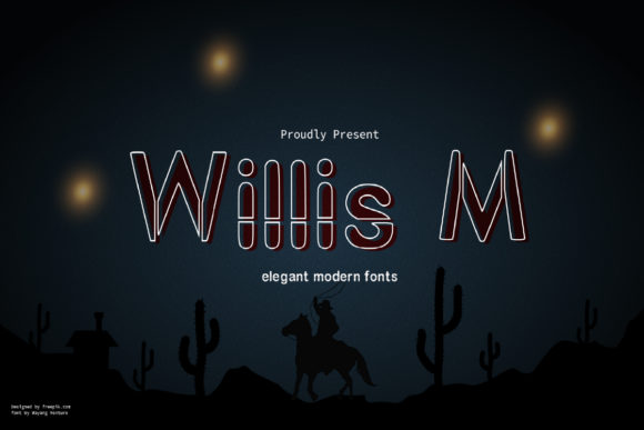 Print on Demand: Willis M Display Font By wayang.venture