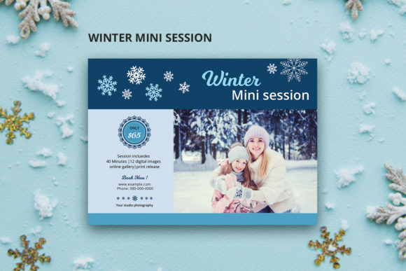 Print on Demand: Winter Photography Mini Session Graphic Print Templates By sistecbd