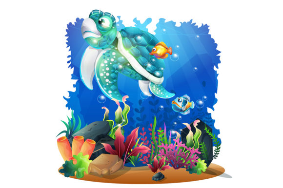 Beautiful Marine Life with Various Graphic Illustrations By Aghiez