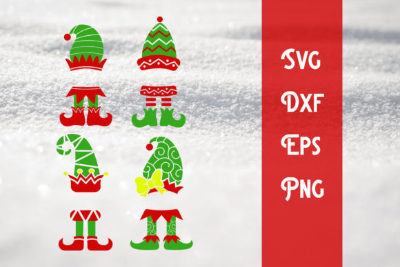 Print on Demand: Elf Christmas Svg Christmas Cut File Graphic Print Templates By dadan_pm