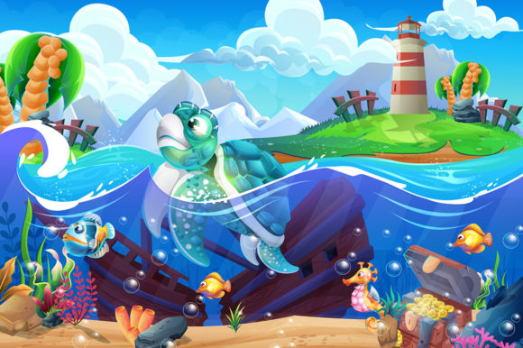The Ocean and the Underwater World Graphic Illustrations By Aghiez