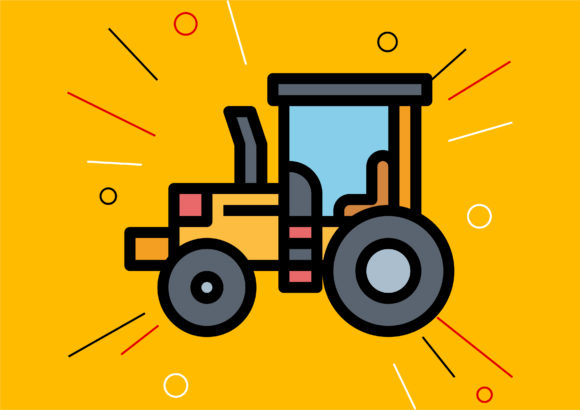 Tractor Graphic Illustrations By Cintakucluk123