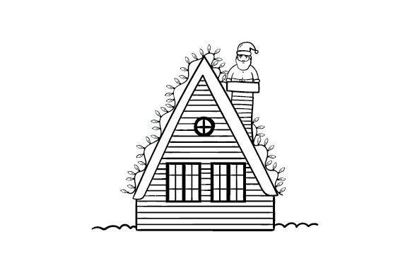 Tiny House Christmas Cut File