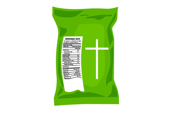 Religious Themed Chip Bag Cut File