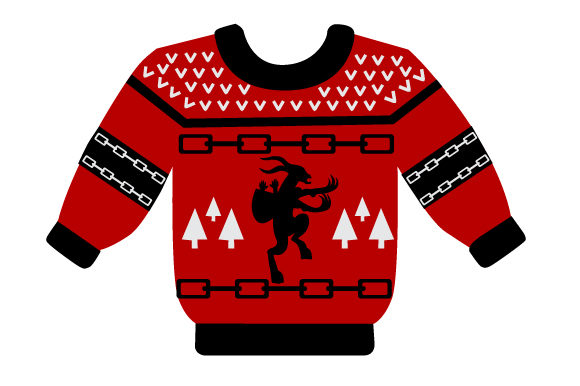 Krampus Christmas Sweater Cut File