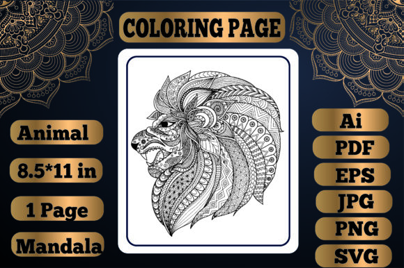 Print on Demand: Animal Mandala Coloring Page 1 for Adult Graphic Coloring Pages & Books Adults By KDP_Interior_101