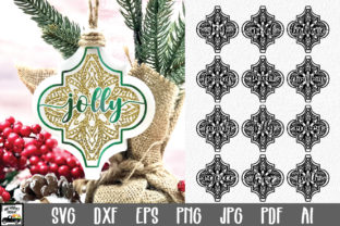 Print on Demand: Arabesque Tile Christmas Ornaments Graphic Crafts By oldmarketdesigns