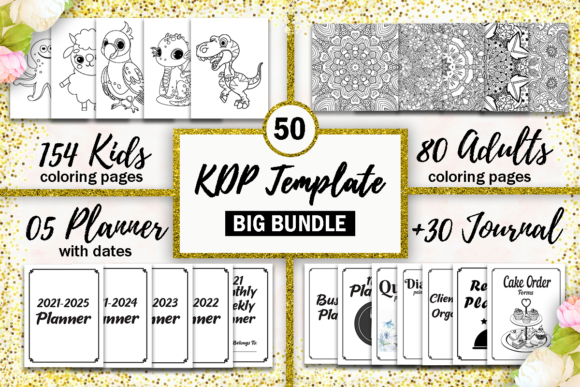 Print on Demand: BIG KDP Template Bundle, KDP Interior Gráfico Páginas KDP Por Fayne