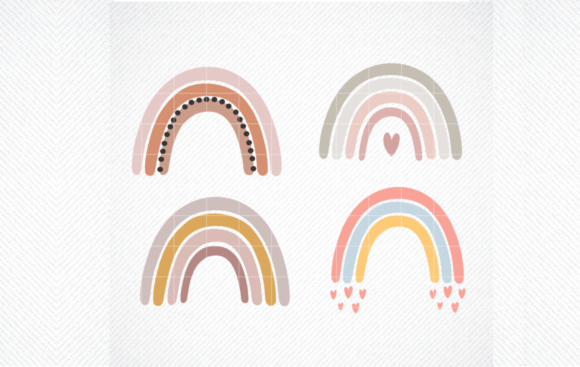 Print on Demand: Baby Svg - Boho Rainbow Svg, Rainbow Svg Graphic Crafts By SVG DEN