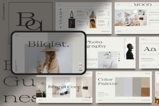 Print on Demand: Bilqist - Aesthetic Brand Guidelines Template Graphic Presentation Templates By MasdikaStudio