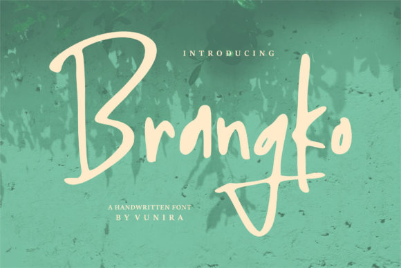 Print on Demand: Brangko Script & Handwritten Font By Vunira