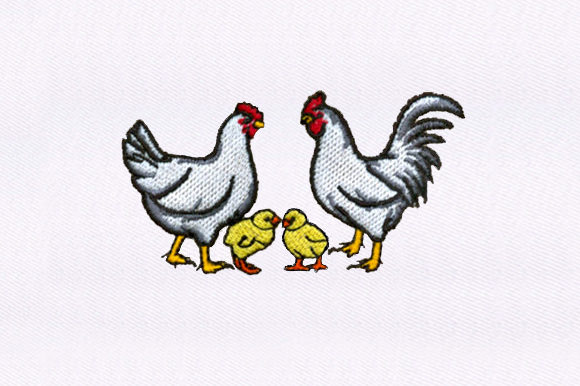 Chickens & Chicks Embroidery