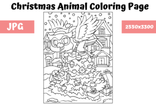 Print on Demand: Christmas Animal Coloring Page 1 Graphic Coloring Pages & Books Kids By MyBeautifulFiles