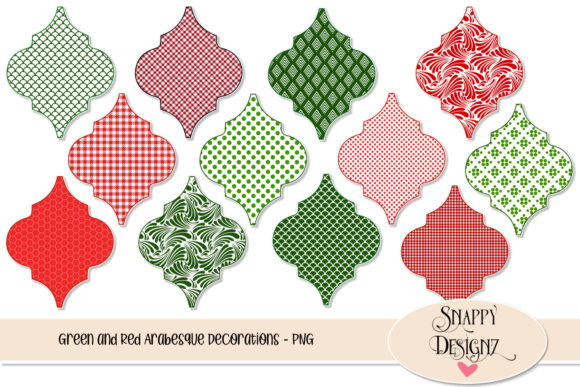 Christmas Arabesque Clipart Graphic Objects By Snappyscrappy
