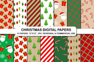 Christmas Background Digital Papers Set Graphic Backgrounds By bestgraphicsonline