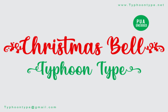 Print on Demand: Christmas Bell Script & Handwritten Font By Typhoon Type - Suthi Srisopha