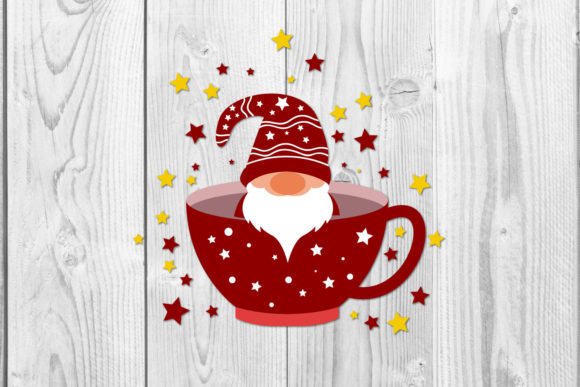 Christmas Cup Gnomes Sublimation Svg Graphic Download