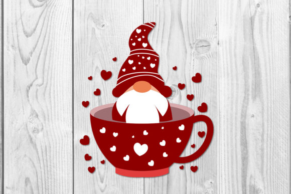 Christmas Cup Gnomes Sublimation Svg Graphic Item