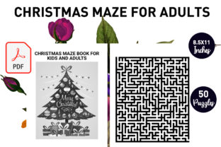 Print on Demand: Christmas Maze Book for Kids and Adults Graphic KDP Interiors By Gurus Kdp Templates